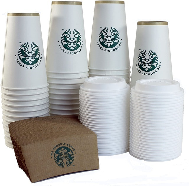 Starbucks  Starbucks White Disposable Hot Paper Cup 1