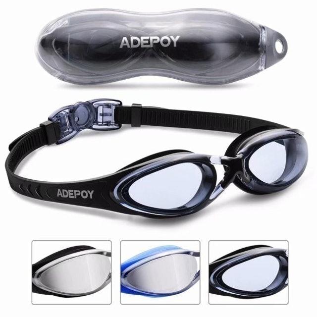 adepoy Anti-Fog No-Leak Swimming Goggles 1
