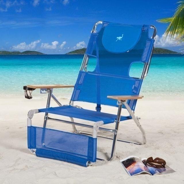 Ostrich 3-in-1 5-Position Reclining Beach Chair 1