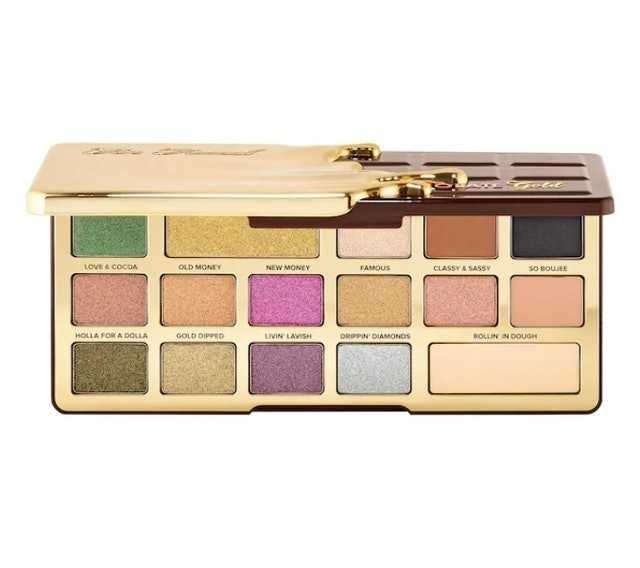 Too Faced Chocolate Gold Eyeshadow Palette 1