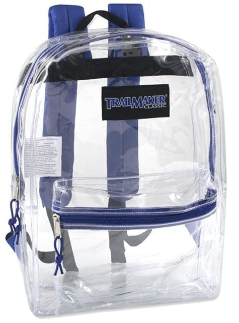 Trail Maker Clear Backpack With Reinforced Straps 1