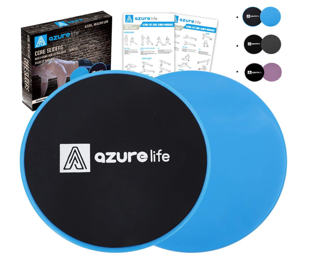 A Azurelife Dual-Sided Exercise Gliding Discs 1