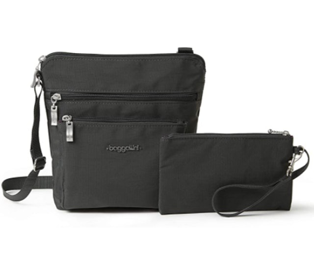 Baggallini Pocket Crossbody Bag With RFID-Protected Wristlet 1