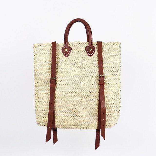 Socco Designs Panama Straw Backpack 1