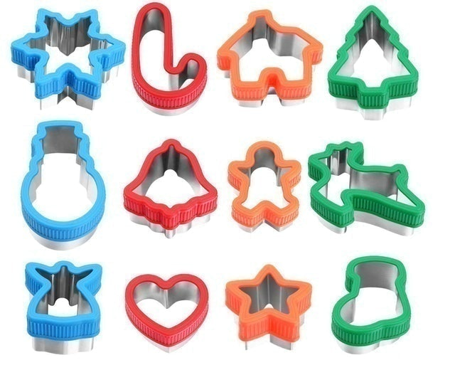 Unomor Christmas Cookie Cutters with Comfort Grip 1
