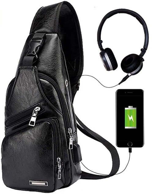 JUMO CYLY Men's Sling Bag With USB Charging Port 1