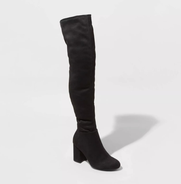 A New Day Tonya Microsuede Heeled Boots 1