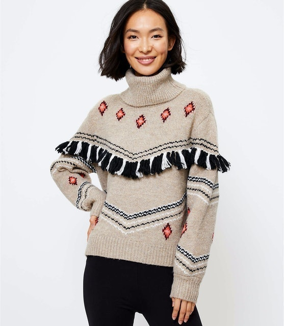 Loft Lou & Grey Fringe Fair Isle Sweater 1