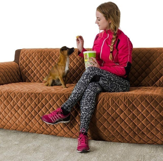 Marksign  Velvet Sofa Cover 1