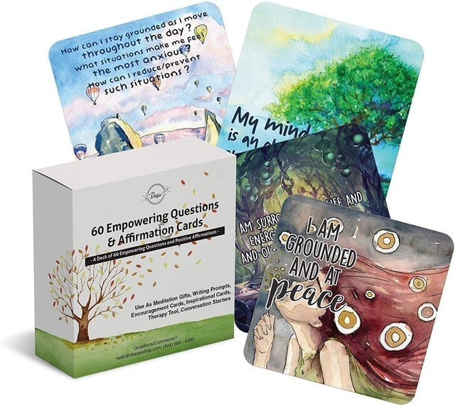 Dessie 60 Empowering Questions and Affirmation Cards 1