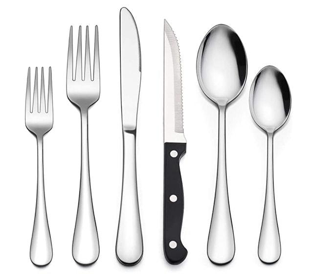 LIANYU Silverware Set With Steak Knives 1