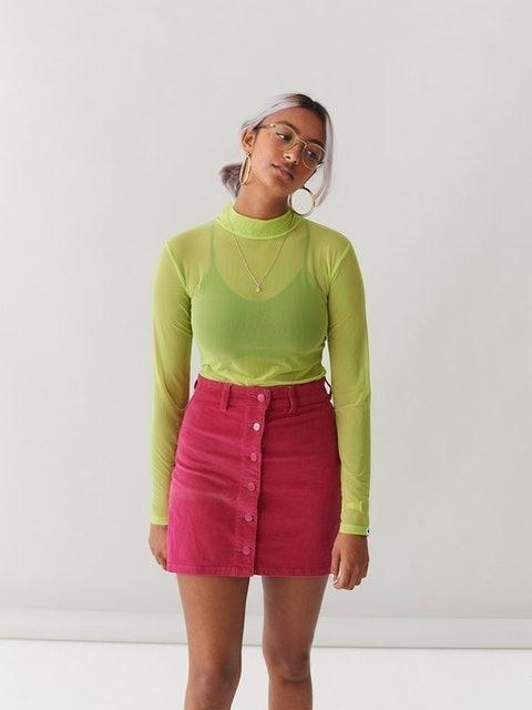 Lazy Oaf Button Through Skirt 1