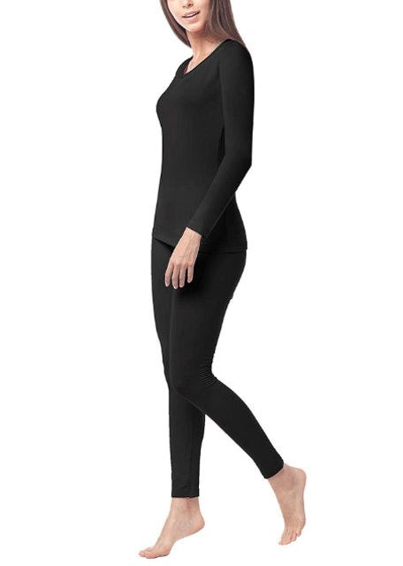 Lapasa Fleece-Lined Thermal Underwear Long John Set 1