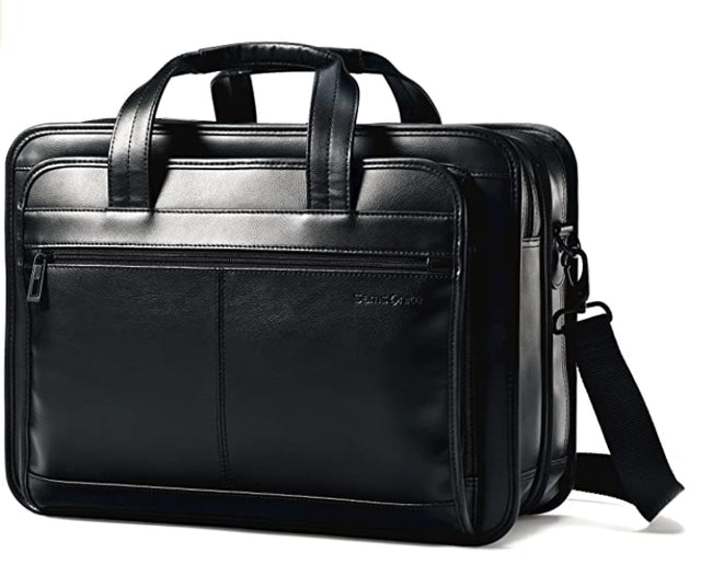 Samsonite Leather Expandable Business Case 1
