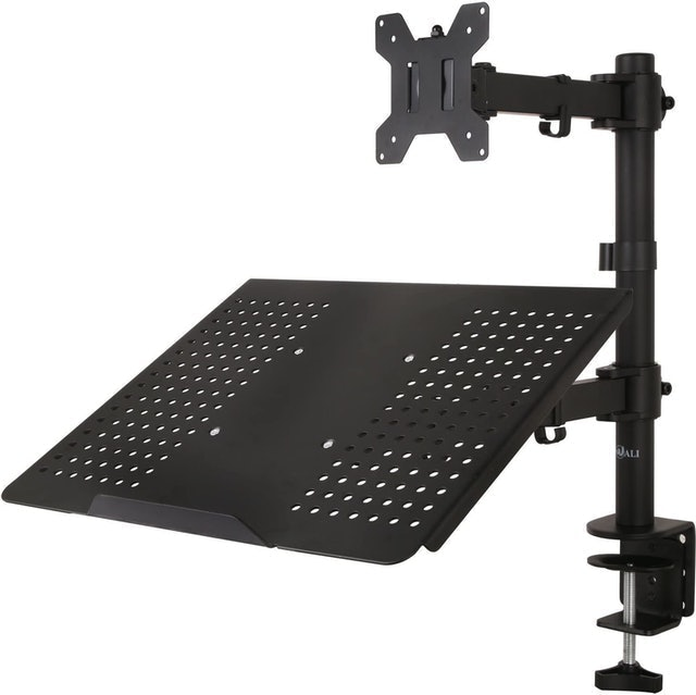WALI Monitor Desk Mount With Laptop Tray 1