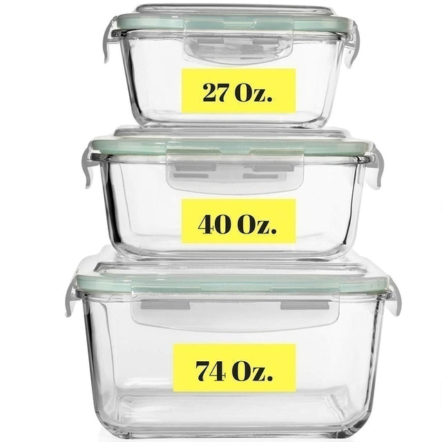 Razab HomeGoods Extra Large Glass Food Storage Containers 1