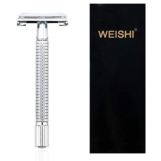 Weishi Long Handle Double Edge Safety Razor 1