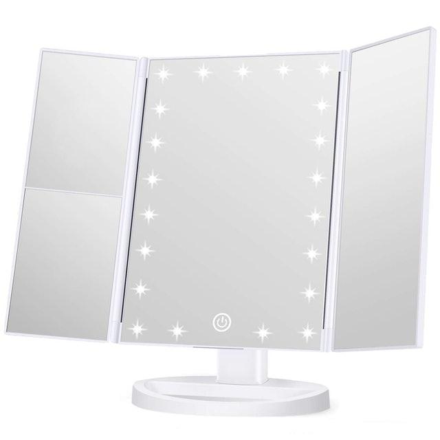 Wondruz Trifold Lighted Makeup Mirror 1