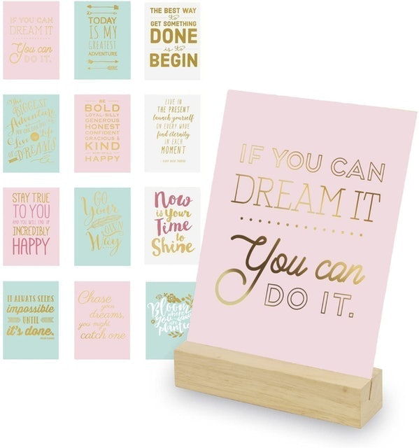 Eccolo World Traveler Inspiring Quotes With Wooden Stand 1