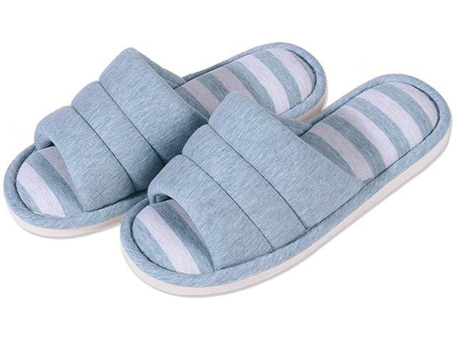 Shevalues Indoor Open Toe Memory Foam Slip On Slippers 1