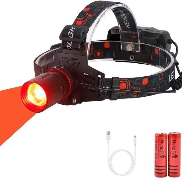WindFire  Zoomable Red Light Hunting Headlamp 1