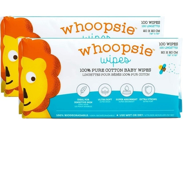 Whoopsie Wipes 100% Pure Cotton Dry Wipes  1