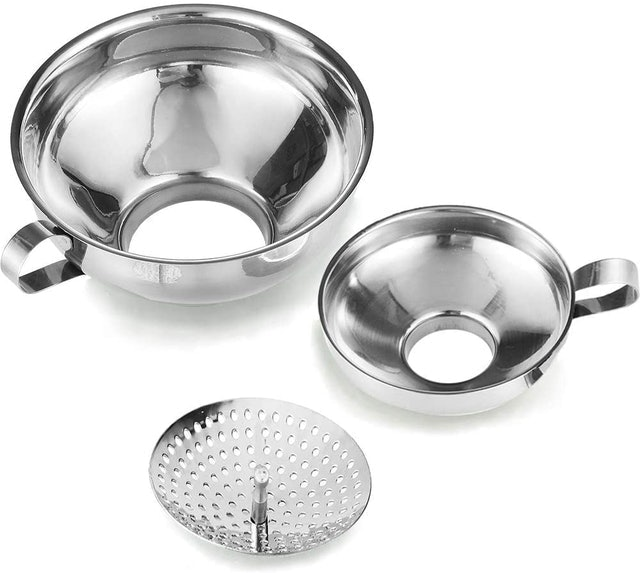 Delove Small and Large Funnels With Strainer 1