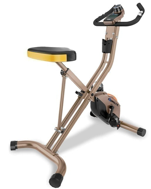 Exerpeutic  Gold Heavy Duty Foldable Exercise Bike 1