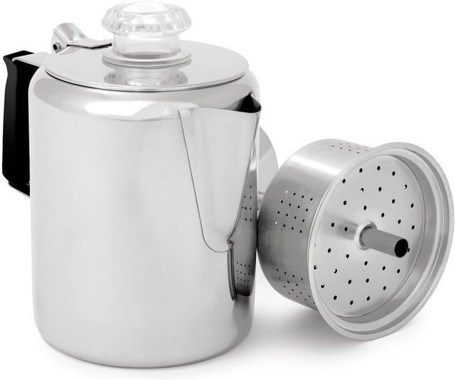 GSI Outdoors Glacier Stainless Steel Percolator Coffee Pot 1