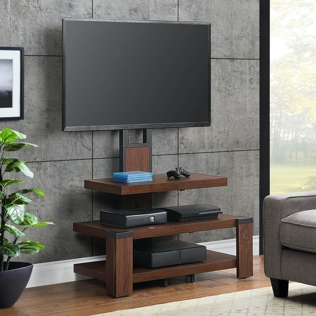 Whalen  3-Shelf Television Stand with Floater Mount 1