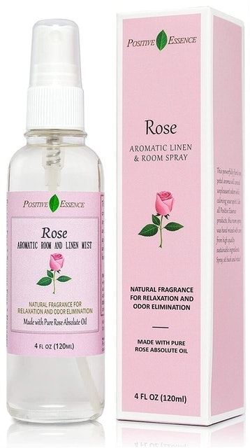 Positive Essence Rose Linen and Room Spray 1
