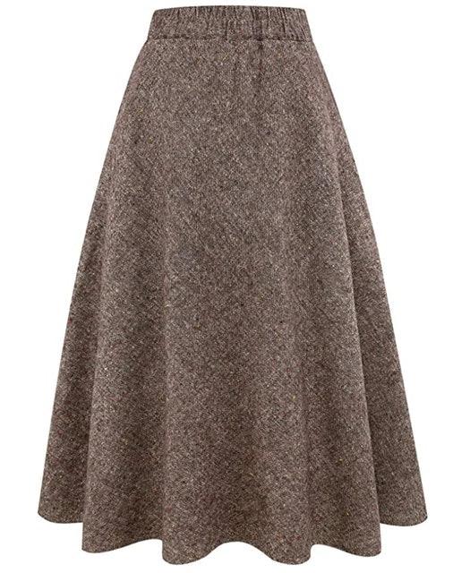 Idealsanxun High Waist Maxi Skirt 1