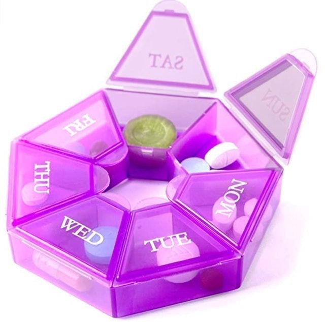 Deke Home Store 7-Sided Portable Pill Box 1