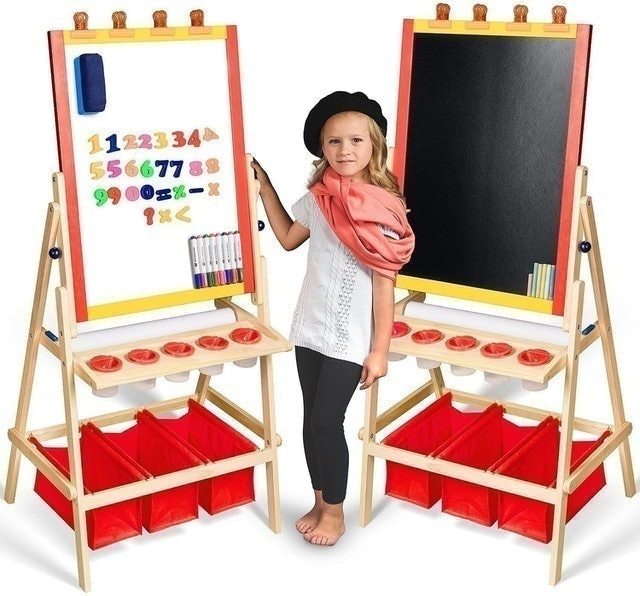 Evergreen Art Supply Kids Easel With Paper Roll 1