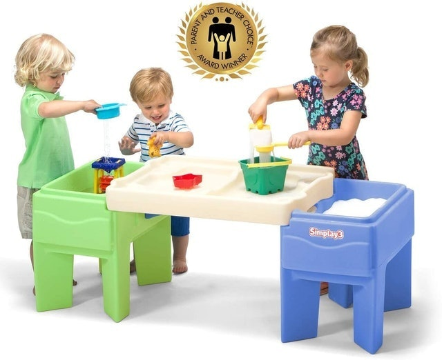 Simplay3 Kids Indoor Outdoor Sand and Water Activity Table with Storage 1