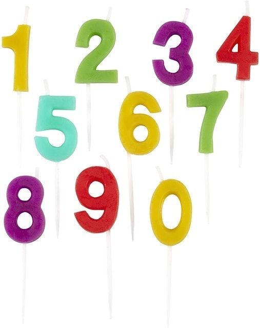 Wilton Numerals Rainbow 1