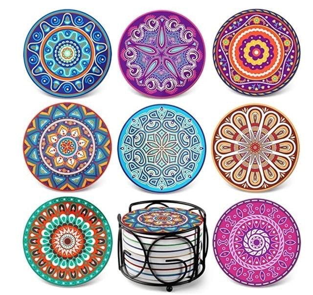 Teivio Mandala Coasters for Drinks 1