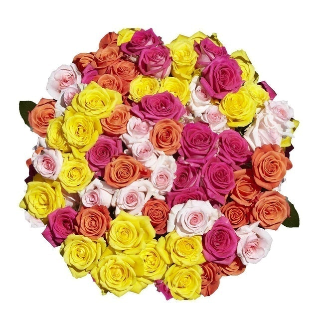 GlobalRose 100 Assorted Color Roses 1