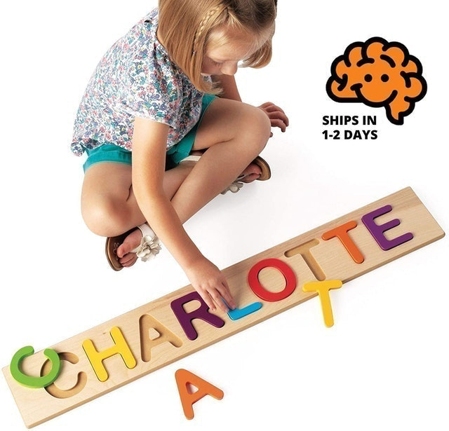 Fat Brain Toys Wooden Personalized Name Puzzle 1