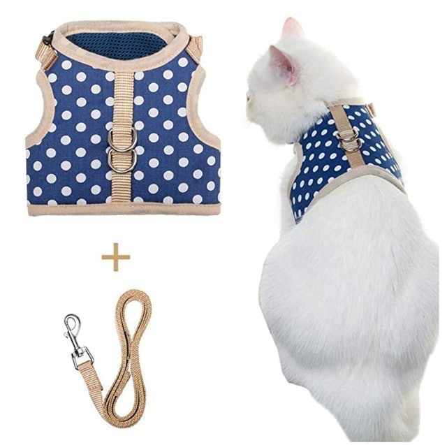 Pupteck Cat Harness With Leash 1