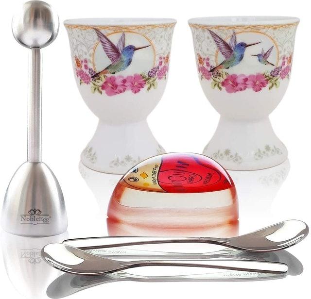 NobleEgg Premium Egg Cup Set for Soft Boiled Eggs 1