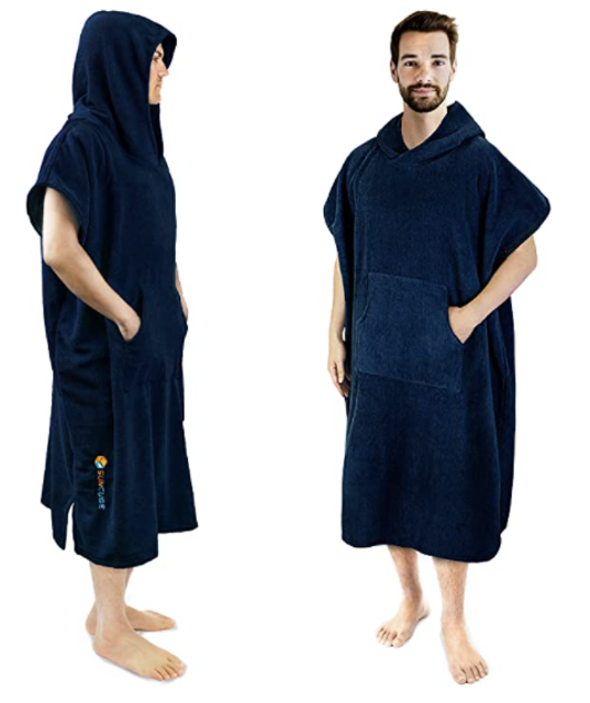 Sun Cube Surf Poncho Changing Robe with Hood 1
