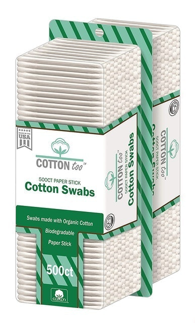 Cotton Too Organic Cotton Swabs 1