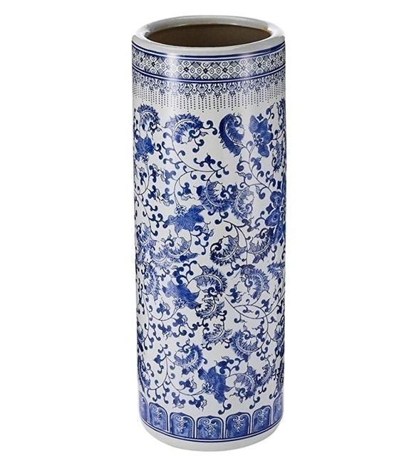 Oriental Furniture Porcelain Umbrella Stand 1