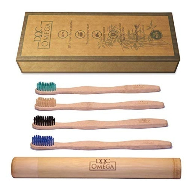 Eco Omega Solutions Biodegradable Bamboo Toothbrushes 1