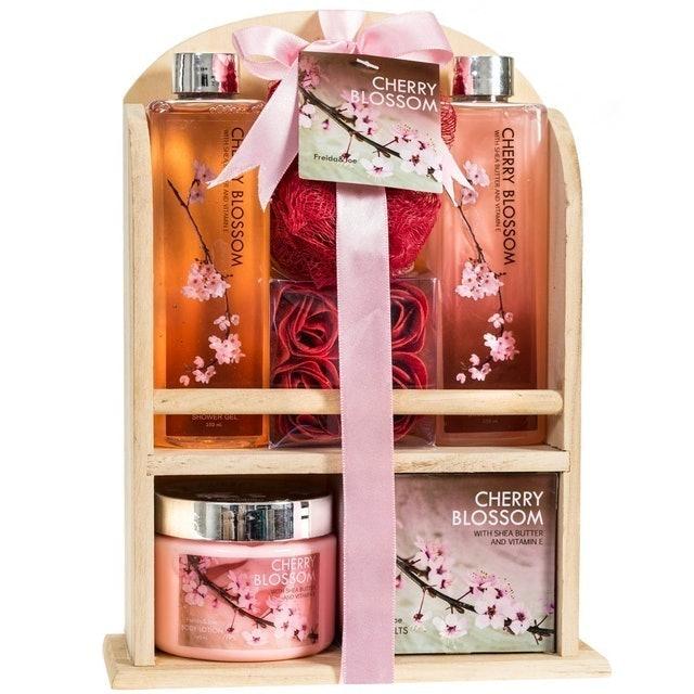 Freida Joe Cherry Blossom Home Spa Gift Basket 1