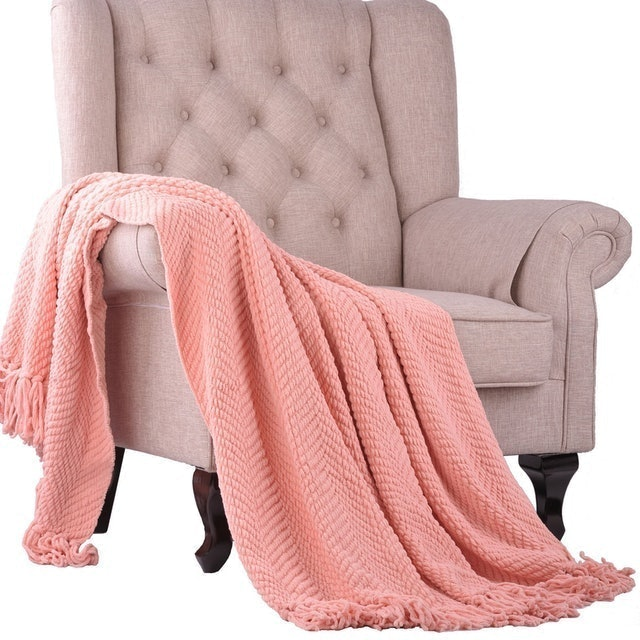 Home Soft Things Knitted Tweed Throw 1