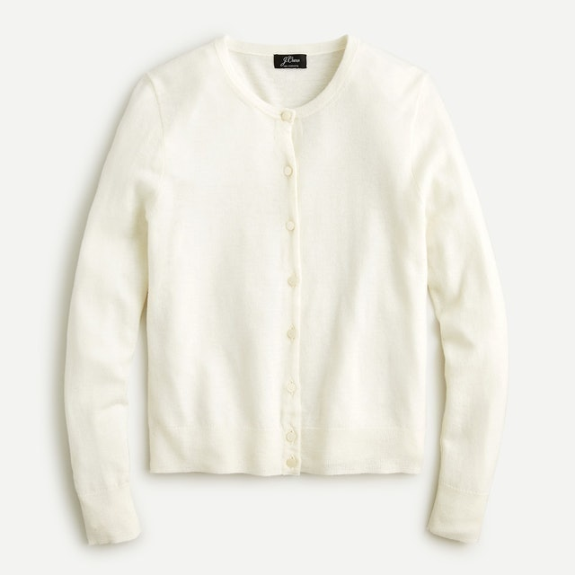 J.Crew Featherweight Cashmere Cardigan Sweater 1