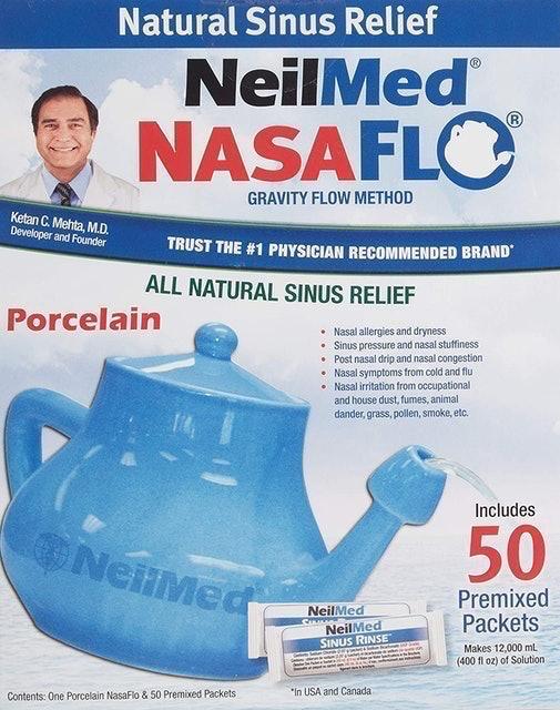 NeilMed Nasaflo Porcelain Neti Pot 1