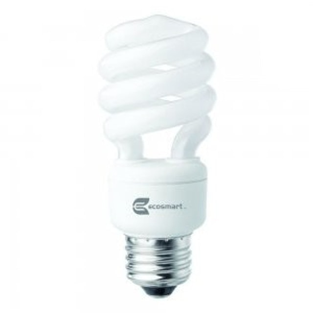 EcoSmart  Spiral CFL Light Bulb 1